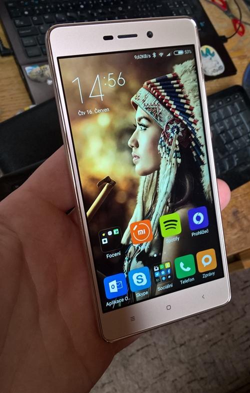Zlaté Xiaomi Redmi 3