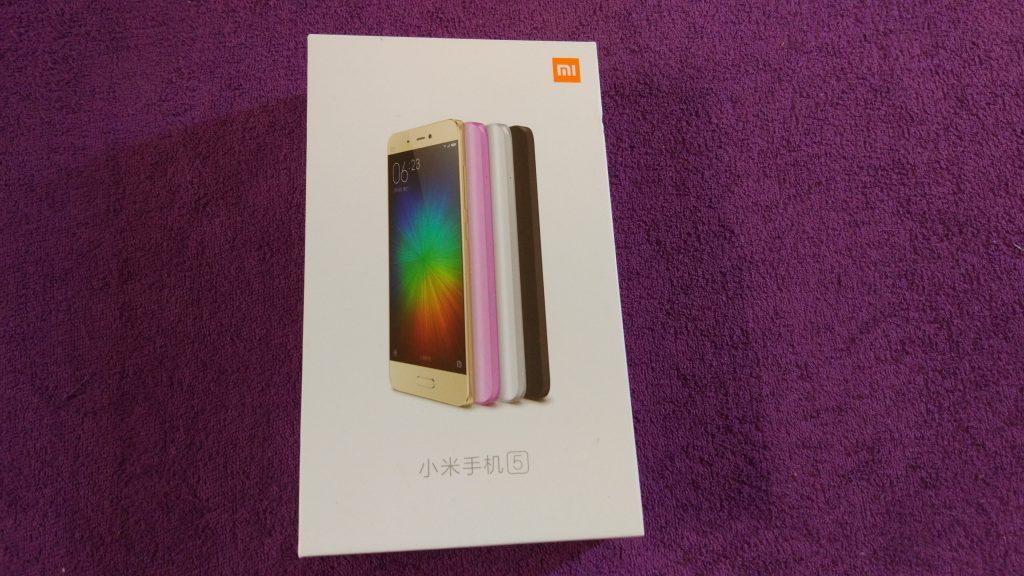 Balení Xiaomi Mi 5