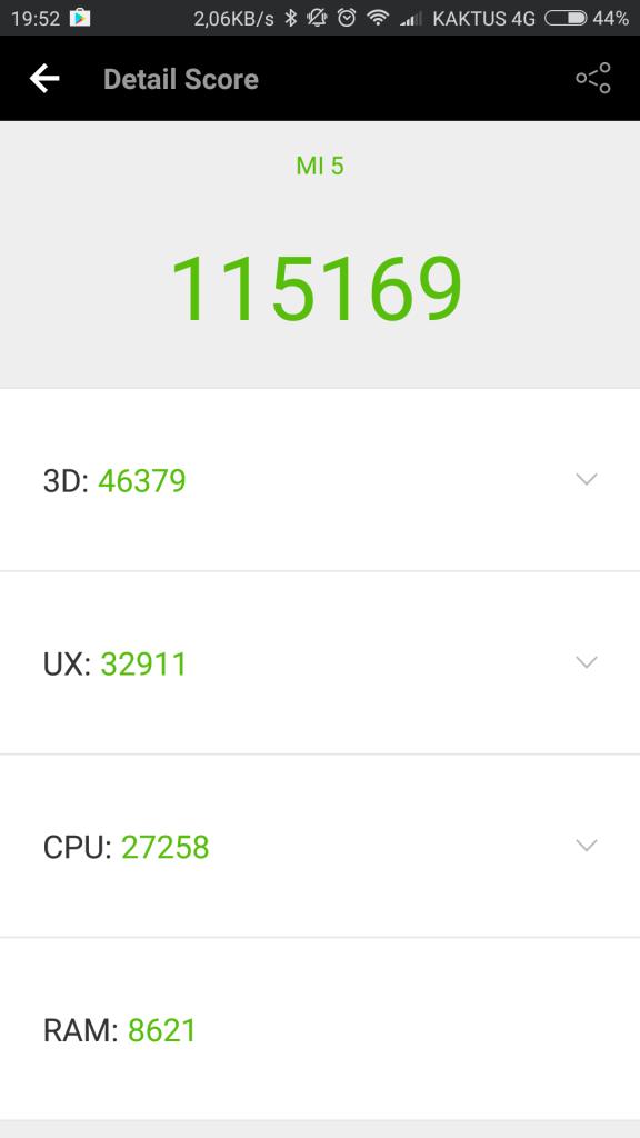 Xiaomi Mi 5 v AnTuTu Benchmark