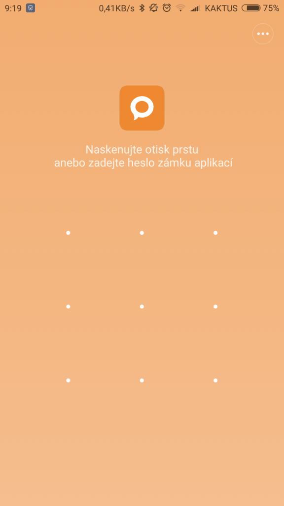 Odemykání aplikací otiskem prstu - Xiaomi Mi 5