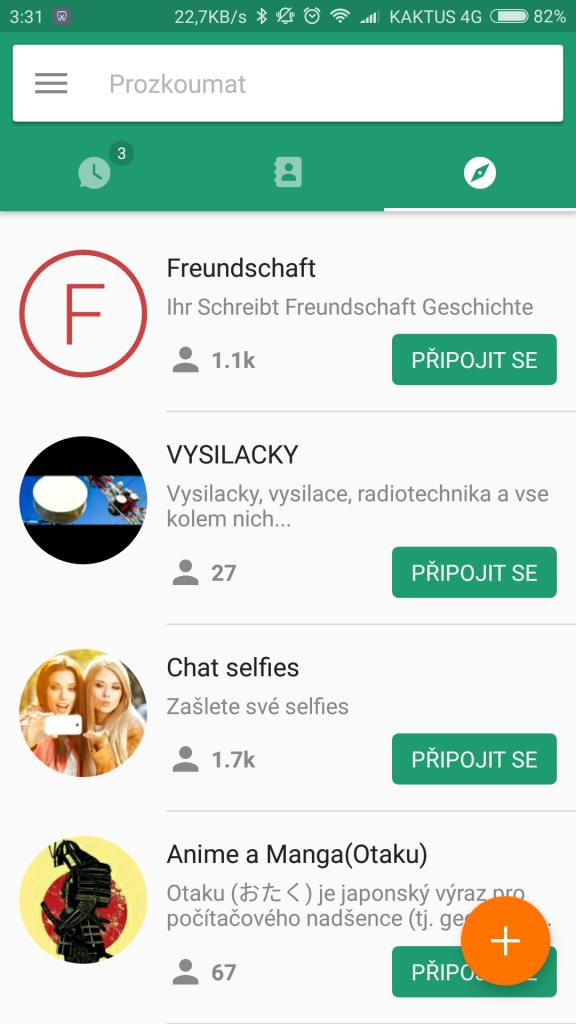 Skupiny v aplikaci ICQ