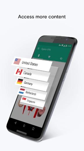 Opera VPN pro mobily