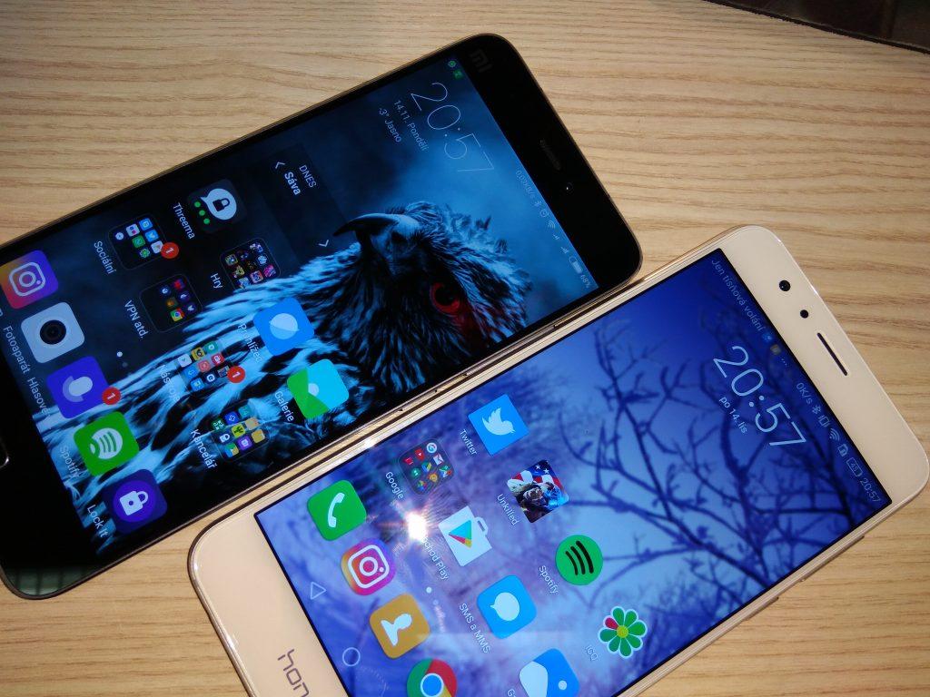Xiaomi Mi5 a Honor 8