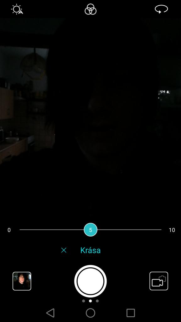 Aplikace Fotoaparát - Focení selfie