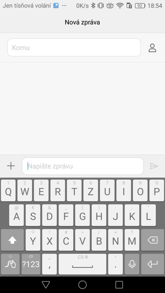Huawei Swype klávesnice