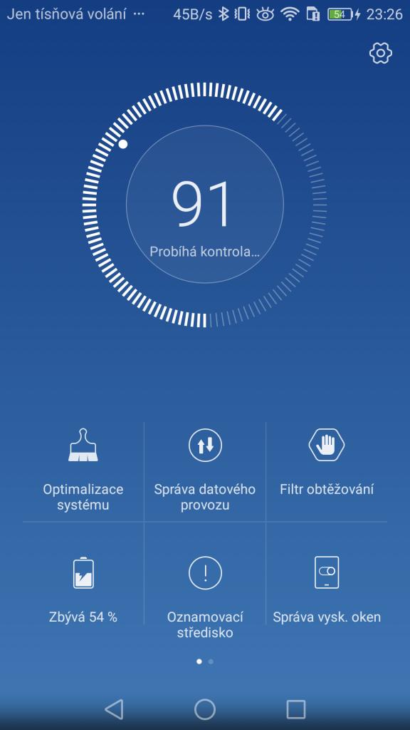Aplikace Správce telefonu